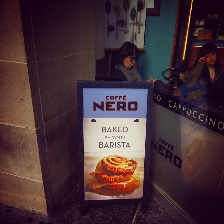 Cafe nero _ baked by your barista