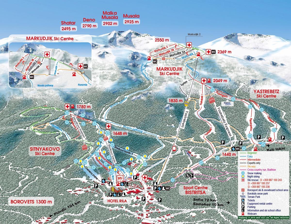 Ski Map_Musala_2015_Borovets