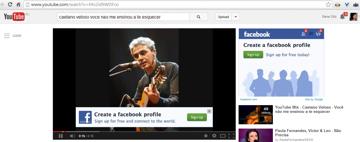 facebook on youtube