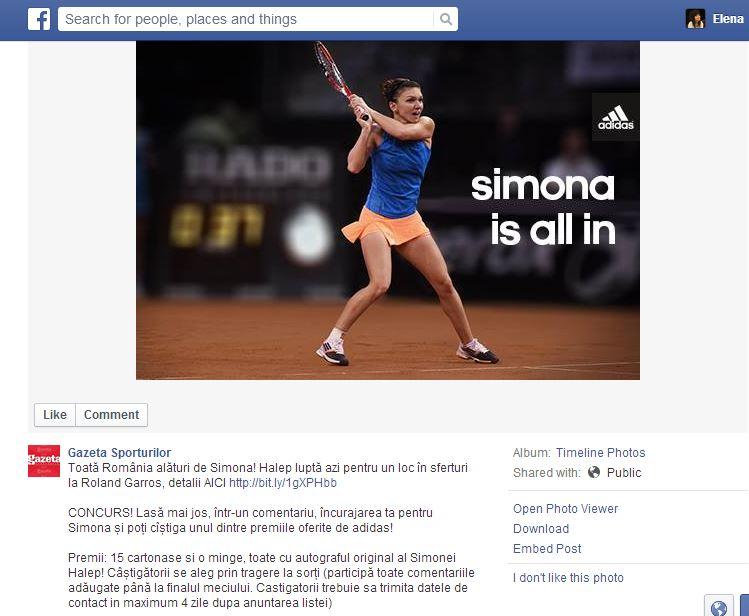 adidas _ gazeta sporturilor _ simona halep