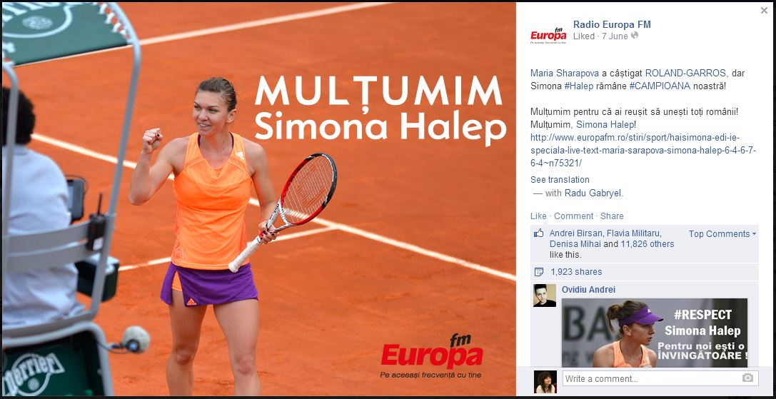 radio europa fm _ simona halep