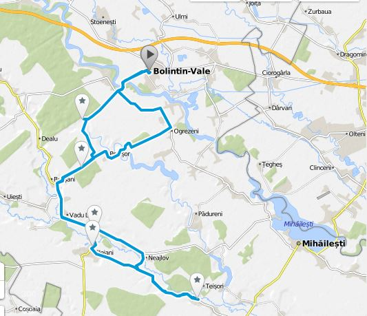 Harta Traseu Bolintin Vale Clejani Bulbucata Elena Ciric Blog